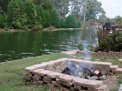 Large waterside firepit (lots of firewood provided)