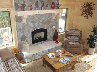 Munising cottage photo - Firplace for cool nights.