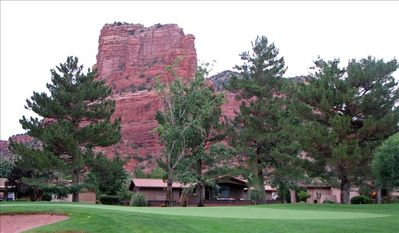 65 Fairway Oaks and Cathedral Rock from the 11th green.