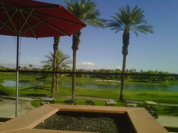 AMAZING VIEWS FROM ERNIES BAR & GRILL @ PGA WEST...