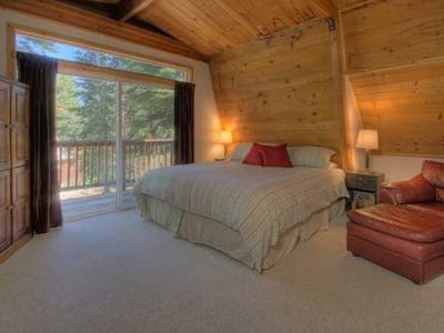 Master Bedroom with King Bed TV and DVD Player- Small Deck