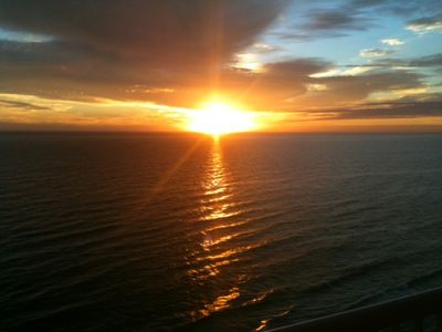 Breathtaking sunset.  Relax on the balcony and enjoy the best show in town.