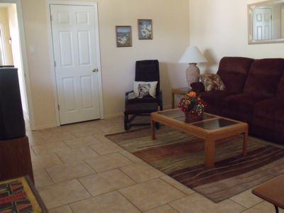 Tucson house rental - Comfortable living room. Couch reclines on both ends