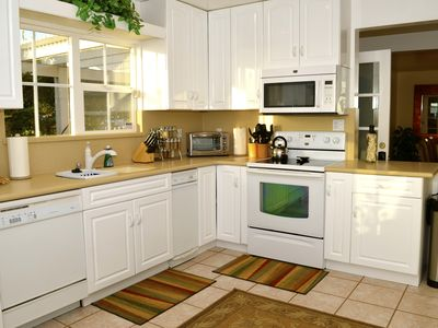 Large kitchen with all amenities provided.
