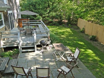 Back deck and lower patio