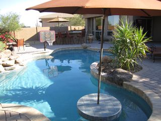 Scottsdale house photo - Pool with shaded umbrella.