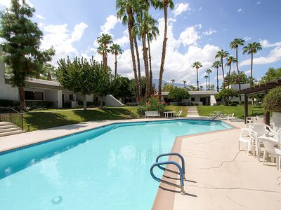 Sun-Filled 2BR Palm Springs Condo w/Private Balcony, Breathtaking Mountain Views, & Complex Pool Access - Close to Airport & Amusement Park!