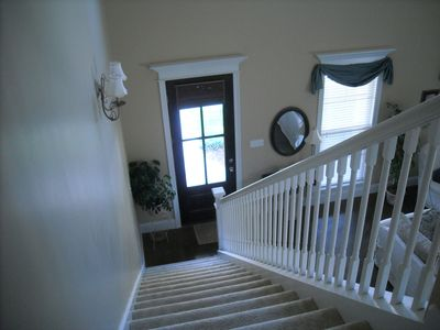 Stairwell comes in near front door