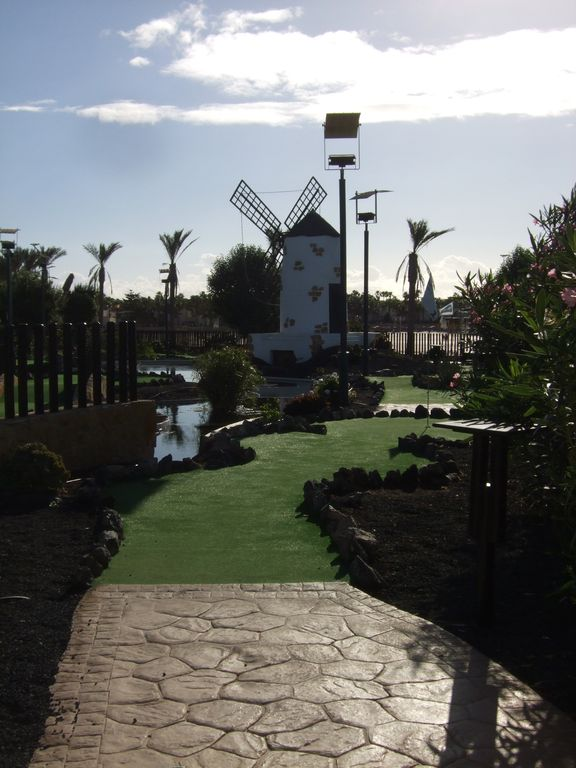 One of the crazy golf courses