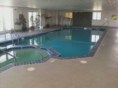 Indoor Pool with Hot Tub. Lifeguard on duty during summer rental season only