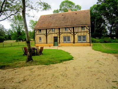 Modernised detached half-timbered house on the estate of a castle from the 16th century