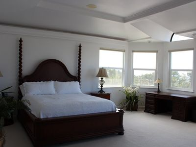 Master bedroom with ocean view