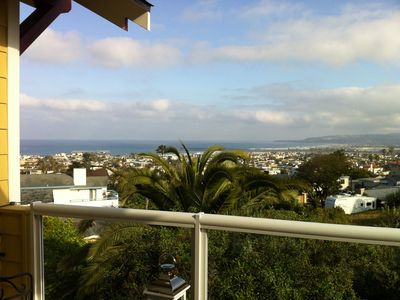 Coastline view from upstairs deck. Perfect for your morning cup of coffee.
