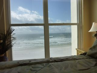 Breathtaking view from our master bedroom!!! You can hear the waves.. - Fort Walton Beach condo vacation rental photo