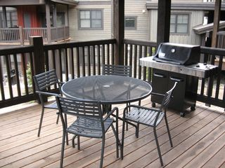 Copper Mountain condo photo - Spacious Back Deck w/ Table, Chairs, & Gas Grill