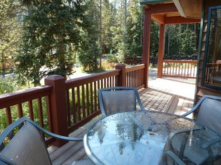 Blue River house photo - Relax on the front yard deck