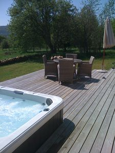 Hot tub and decking