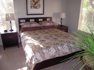 Scottsdale condo photo - Master bedroom - comfy bed, flat screen TV, bathrm & huge WI closet