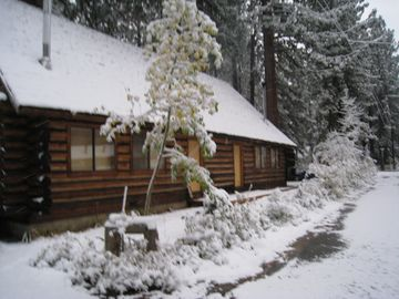 Al Tahoe cabin rental - Log Cabin duplex (lakeside), side #1