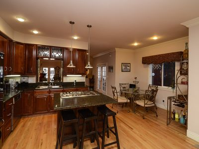 Gourmet kitchen is fully equipped and nook is great for breakfast and chats.