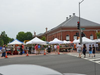Eastern Market Suites on the weekend turns into an open air flea market!