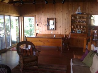 Newfound Lake house photo - Great room with views of lake.