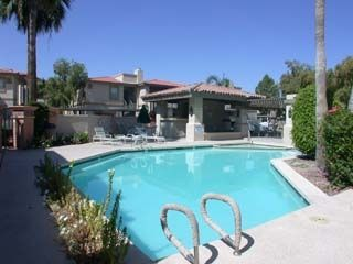 Phoenix townhome rental - one of 3 heated pools and spas all gated