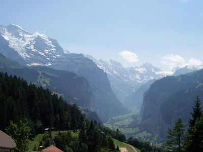 Lauterbrunnen apartment rental - View from Wengen
