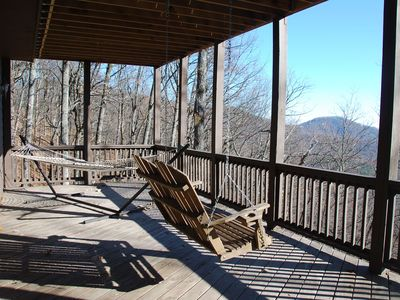 Big Canoe house rental - Swing and hammock on terrace level