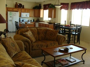 Green Valley villa rental - View of sunny Kitchen and Dining area
