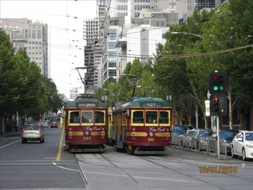 Free Circle Trams at the end of the street