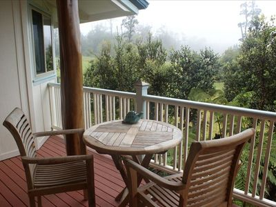 Volcano house rental - Enjoy the view from the balcony!