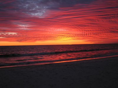Actual Sunset October 2007 in front of Emerald Isle