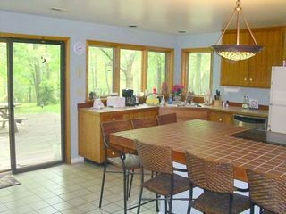 Charlottesville lodge photo - Kitchen Opens To The Yard And Overlooks Forest -