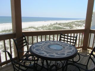 Gulf Shores house photo - Upstairs porch off the bedrooms shows you the views upstairs at Feeling Beachy