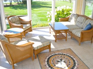 Bethany Beach house photo - Enjoy the cool breeze while you sip your morning coffee on the screened-in porch