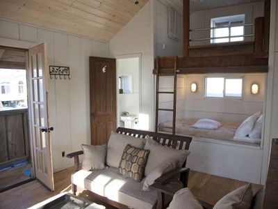 Bdrm #3 with full-size sleeping bunks. Hang out here and watch the surf!