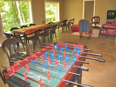 Beech Mountain Lodge Foosball in Upstairs Family or Meeting Room