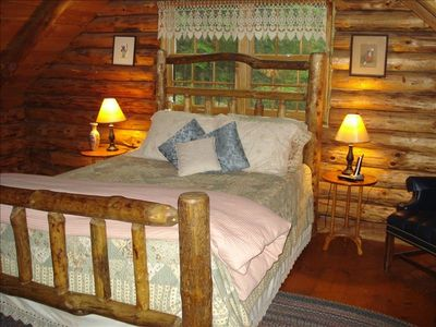 Master Bedroom with Queen Log Bed