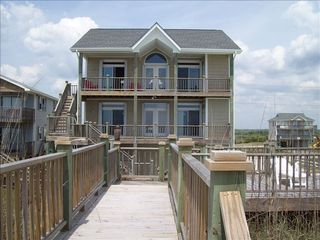 North Topsail Beach house photo - Rear view from private beach access