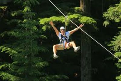 WildPlay Zipline 8 Minutes Away