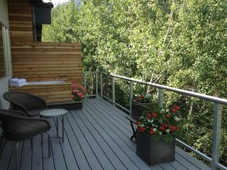 Aspen condo photo - Bathe on the deck winter or summer