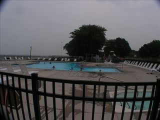 Port Clinton condo photo - New Pool 2009 - Hot tub in foreground