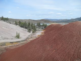 Mitchell cottage photo - Painted Hills with Last Snow in March