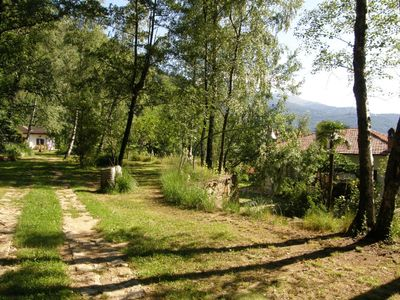 Ivrea chalet rental - Both houses from the wood