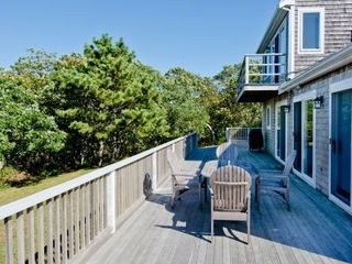 Chilmark house photo - View Of Main Deck With Master Deck Above