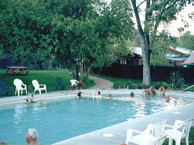 Walk to Trimble Natural Hot Springs Spa with Olympic Pool & enjoy Guest Rates.