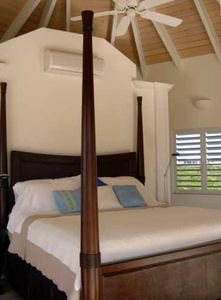 Three bedrooms have king beds and one bedroom has two queen beds