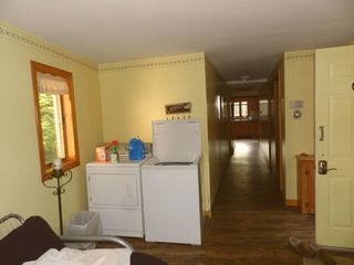Moultonborough house photo - Laundry Rm w Washer n Dryer. Front Entrance to house; Hallway to Kitchen n MBR.