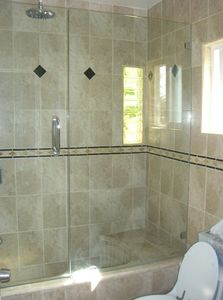 1B-FULLY TILED BATHROOM